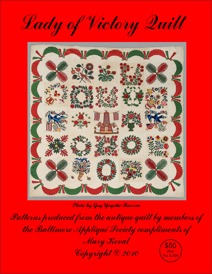 Front cover of the Lady of Victory Quilt patterns