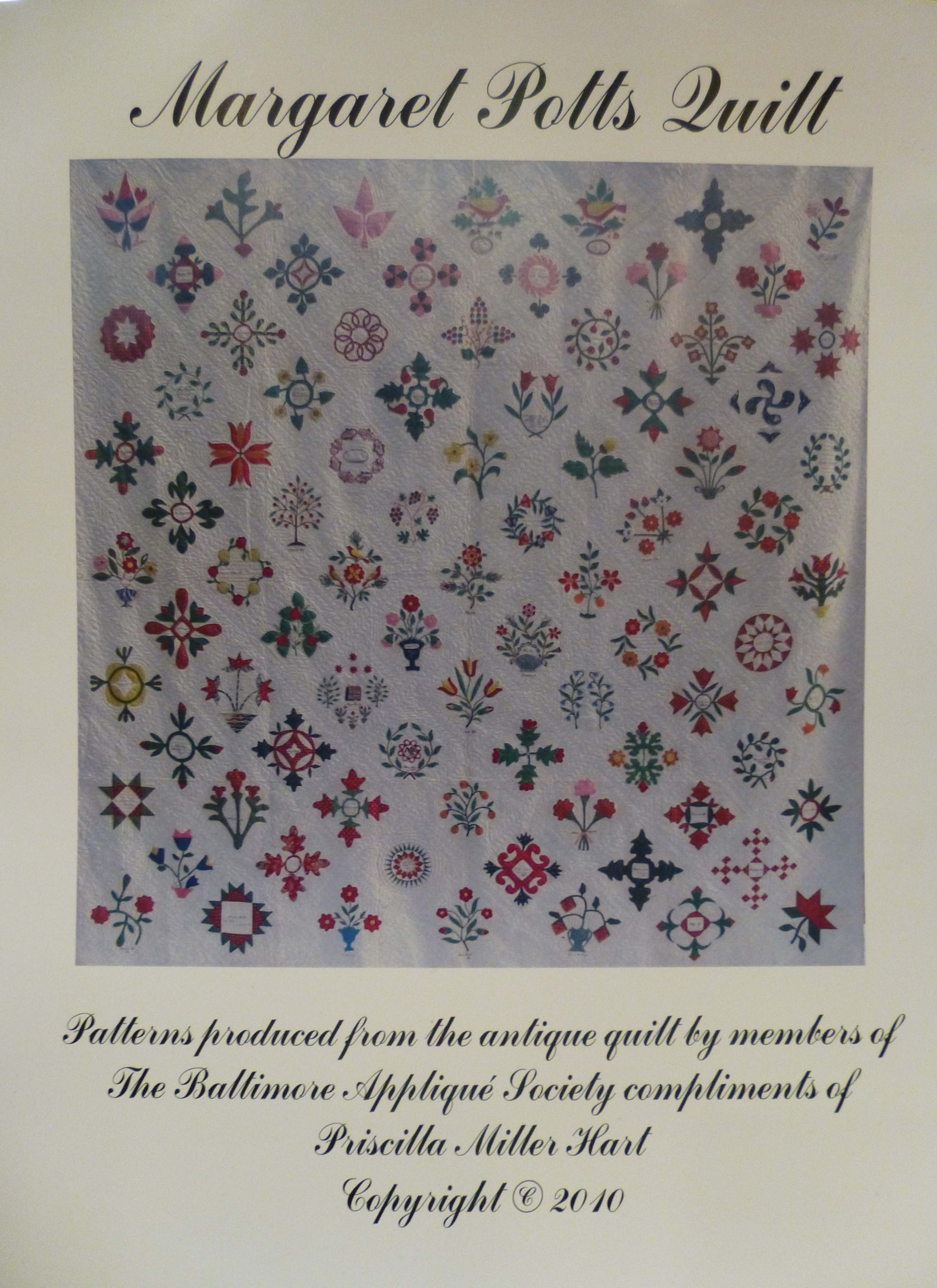 Front cover of the Margaret Potts Quilt patterns