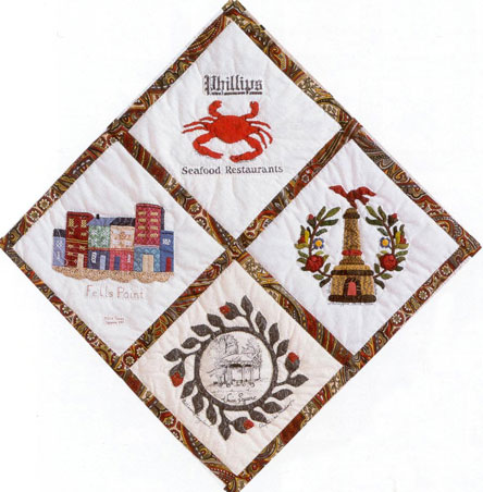 Baltimore Bicentennial Quilt Close-up 1