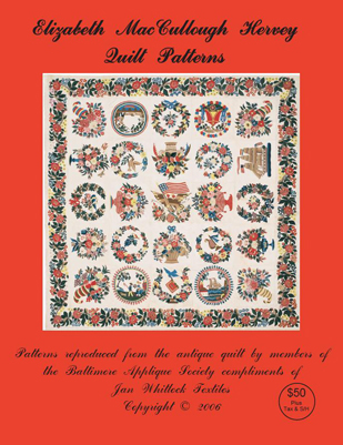 Front cover of the Elizabeth MacCullough Hervey Quilt patterns